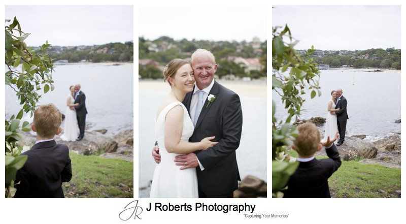 Paige boy making couple laugh - wedding photography sydney