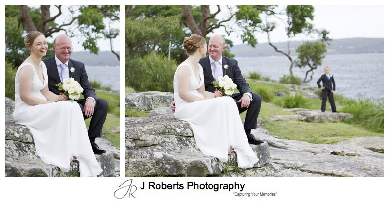 Bridal couple the island balmoral beach - wedding photography sydney