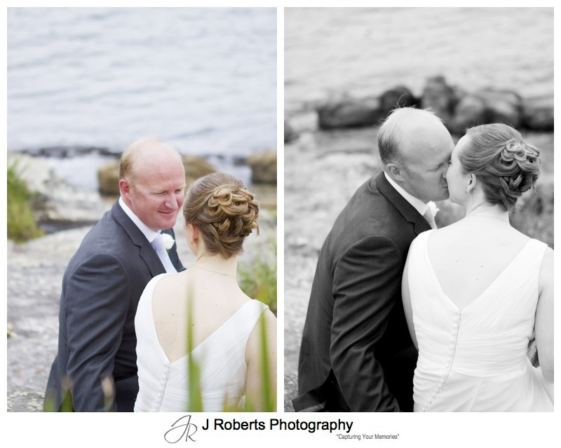 Portrait of a couple kissing - wedding photography sydney