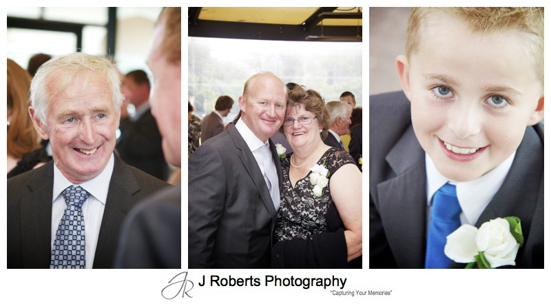 Grooms family at wedding reception - wedding photography sydney