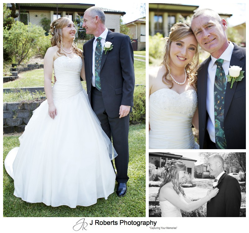 Bride with her father - wedding photography sydney