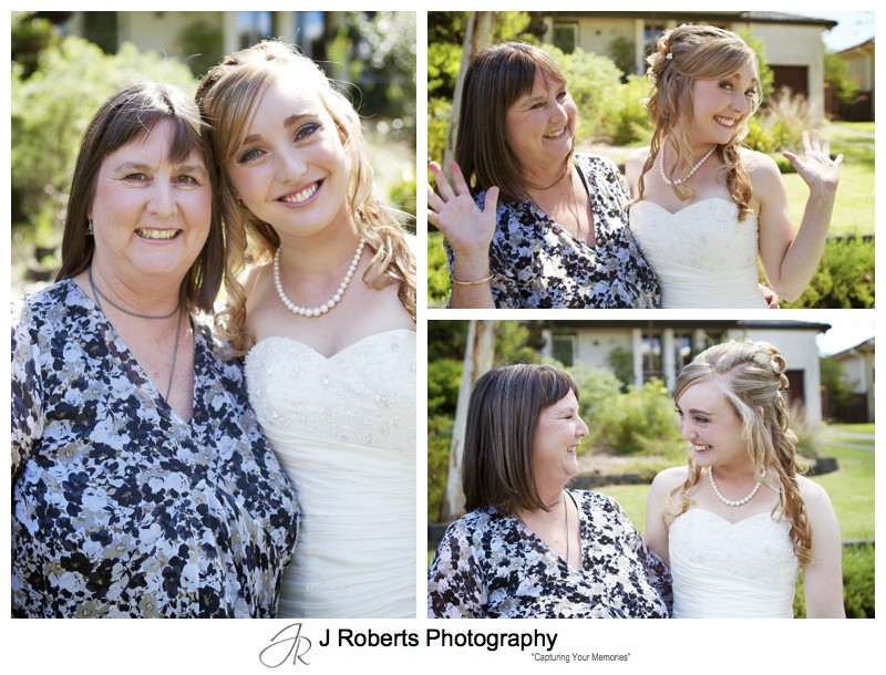 Bride with her mother - wedding photography sydney