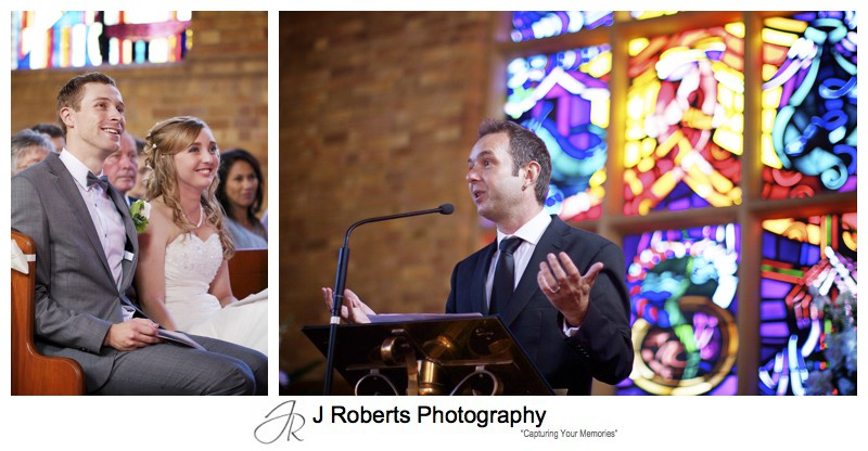 Sermon at wedding ceremony - wedding photography sydney