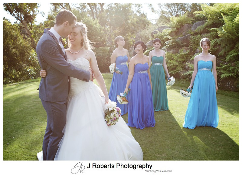 Bride and groom at Asquith Golf Course - wedding photography sydney