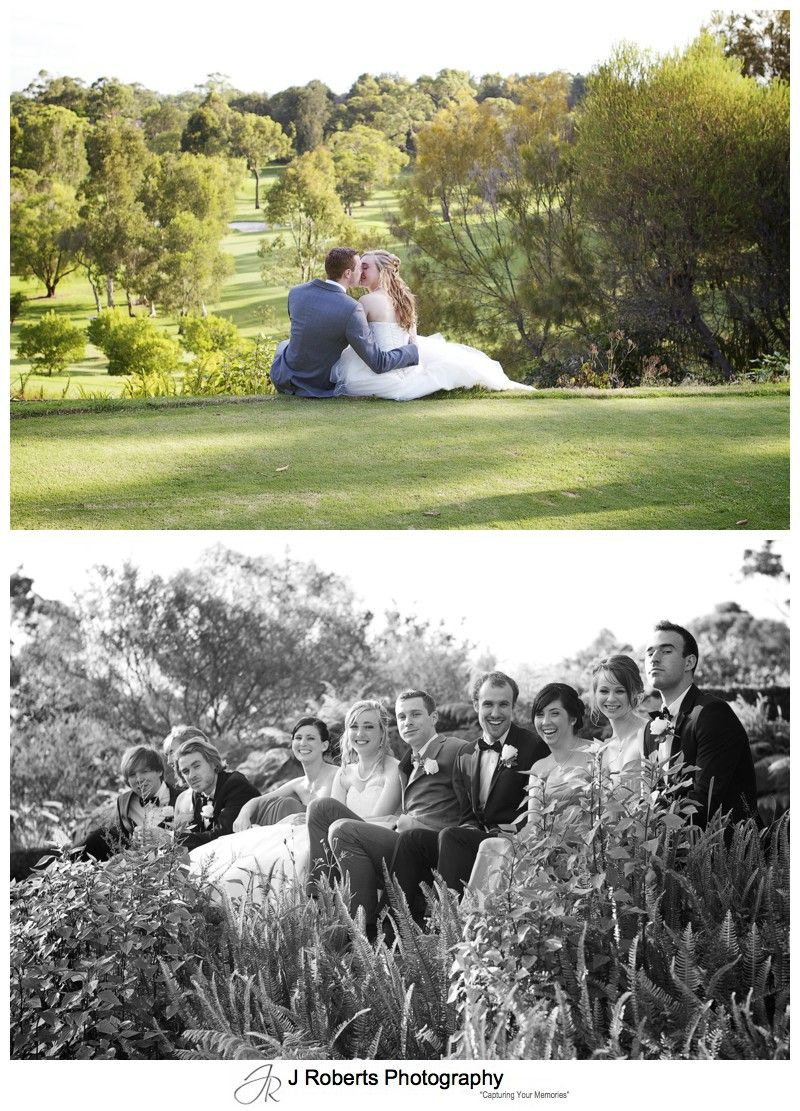 Bride and groom on golf course asquith - wedding photography sydney