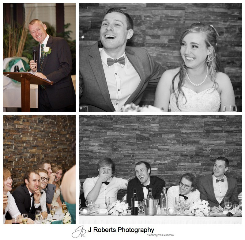 guests reactions to speeches - wedding photography sydney