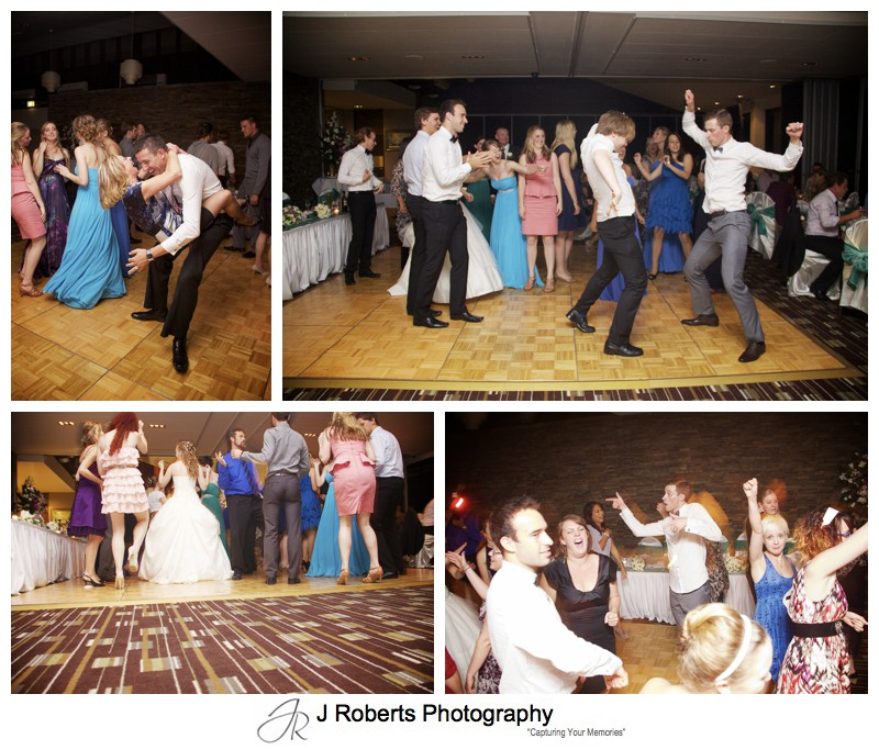Wedding dance floor action - wedding photography sydney