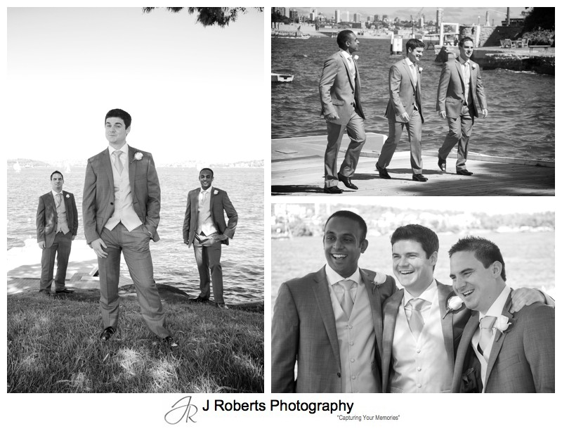 Groom with his groomsmen before the wedding - wedding photography sydney