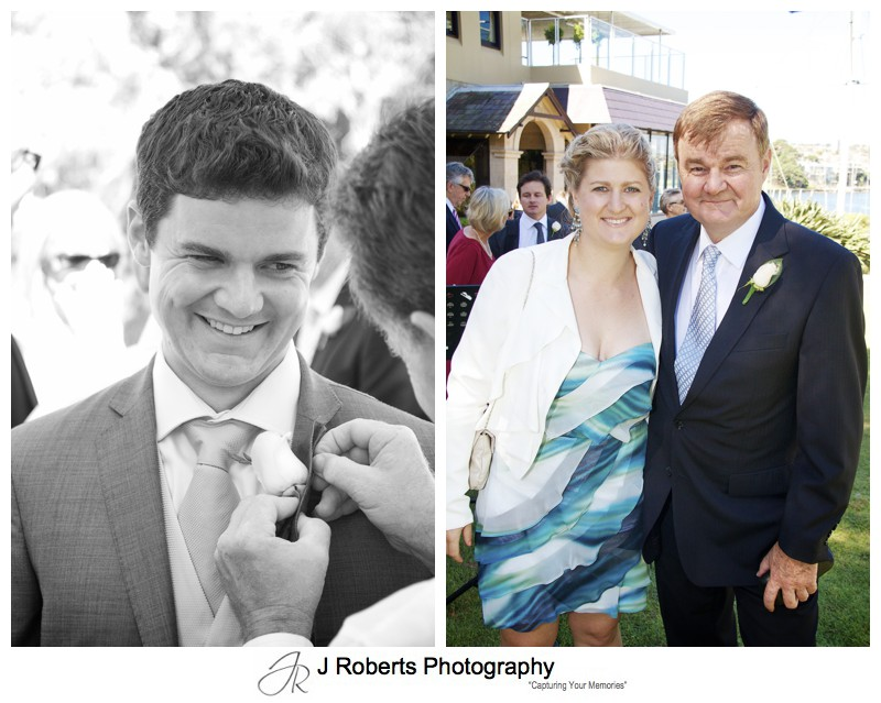 Grooms family before the wedding - wedding photography sydney