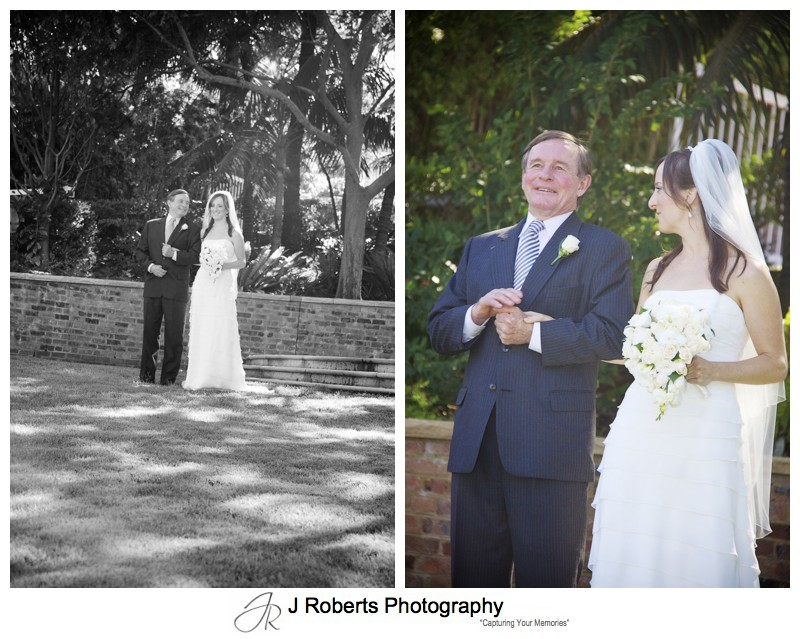 Bride with her father before the wedding - wedding photography sydney