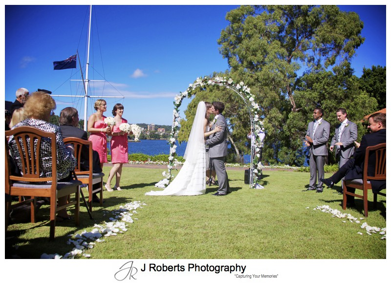 The kiss - wedding photography sydney