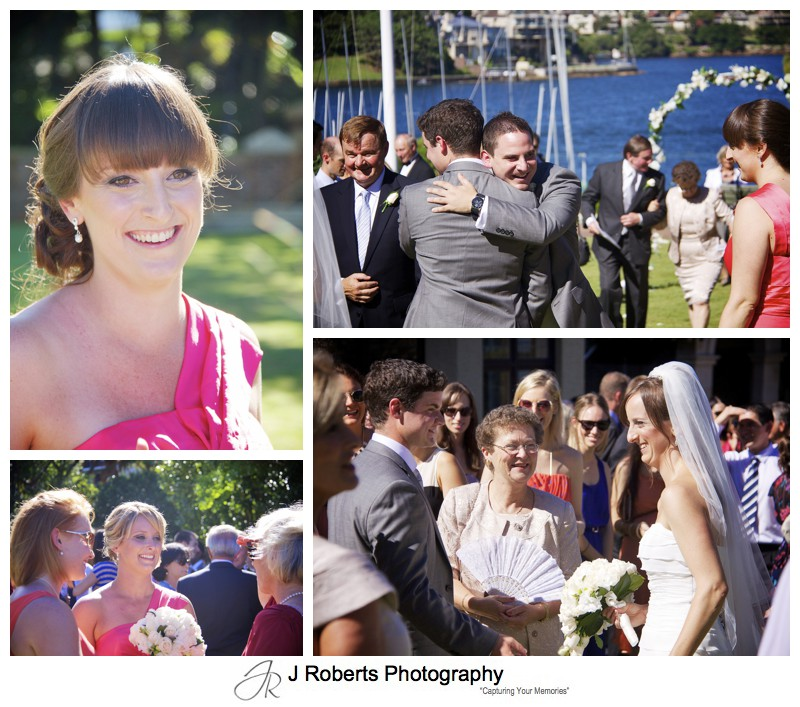 Celebrations after marriage ceremony - wedding photography sydney