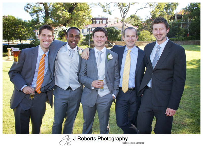 Groom with his mates - wedding photography sydney