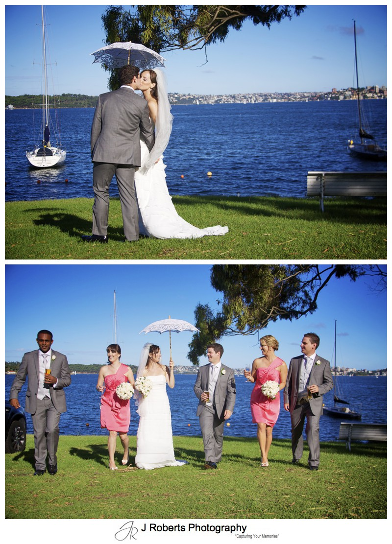 Walking on the lawns at the RSYS = wedding photography sydney