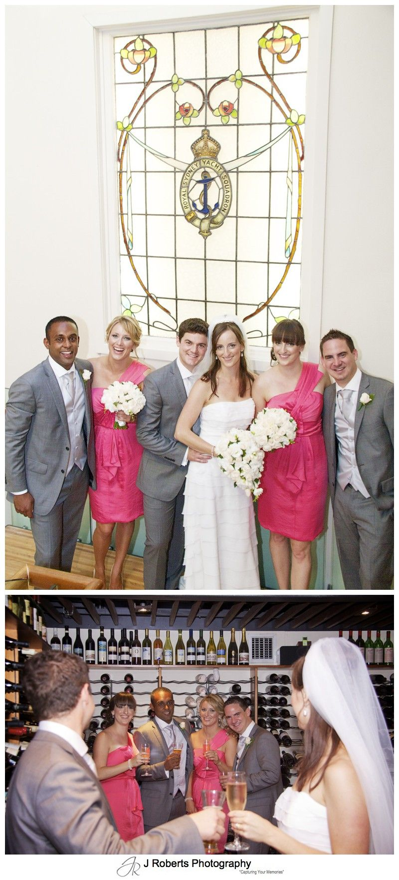 Bridal party in the Royal Sydney Yacht Squadron = wedding photography sydney