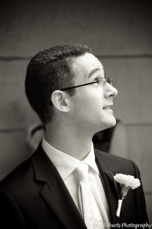 Sepia Groom - Wedding Photography Sydney