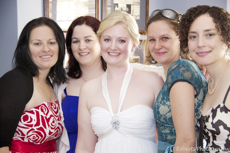 Bride with her close girlfriends - wedding photography sydney