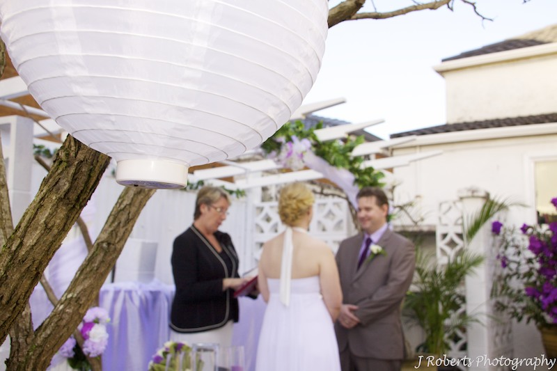 Garden wedding with lanterns - wedding photography sydney