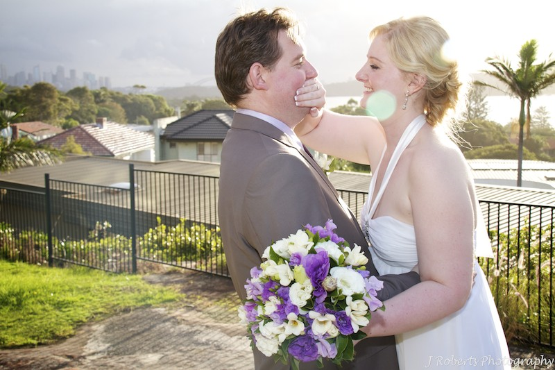 Bride and groom mucking around - wedding photography sydney