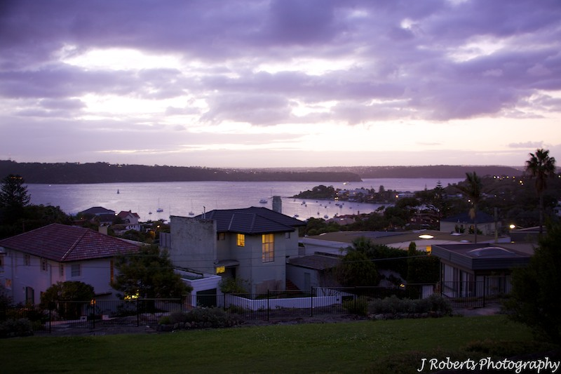 View across watsons bay at sunset - wedding photography sydney
