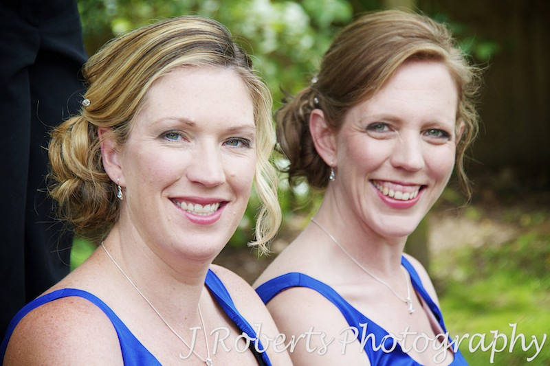 Bridemaids in garden - wedding photography sydney