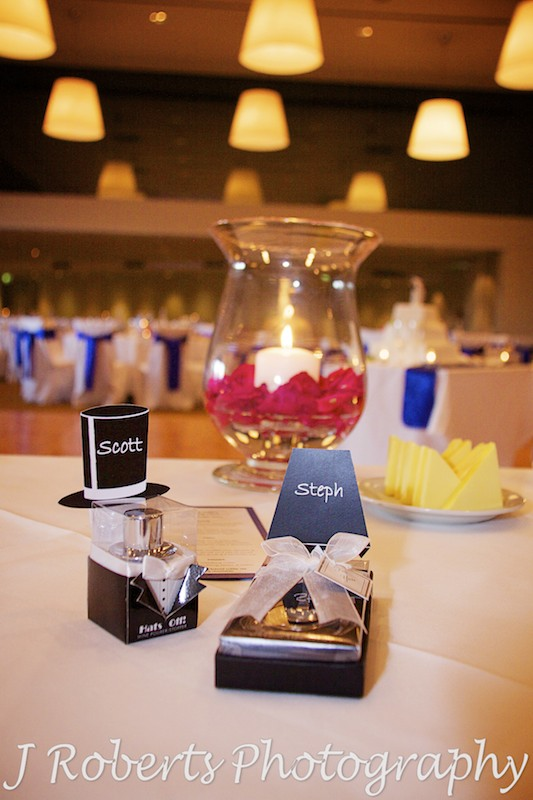 Wedding reception place settings - wedding photography sydney