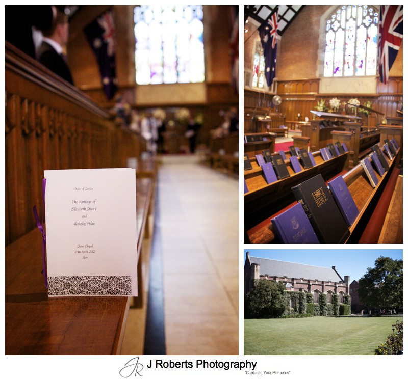 Shore School Chapel - wedding photography sydney