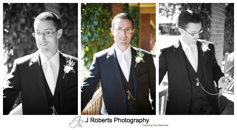 Portraits of a groom - wedding photography Sydney