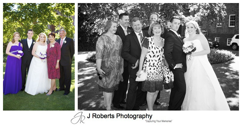 Bride and Grooms family photographs - wedding photography sydney