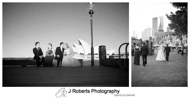 B&W wedding photographs at the rocks - wedding photography sydney
