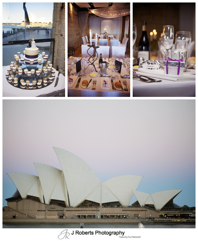 Wedding reception details at Wolfies Grill The Rocks - wedding photography sydney