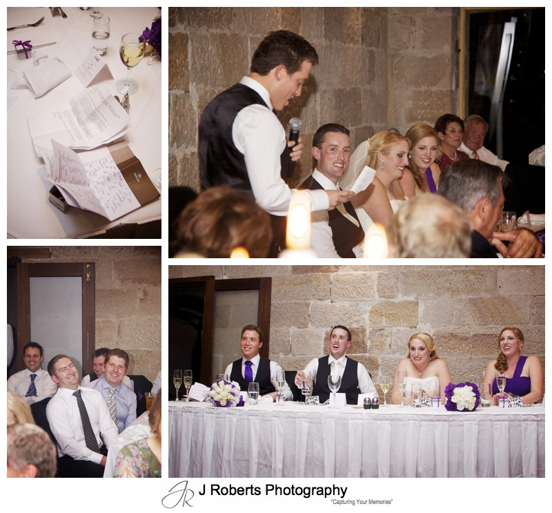 Speech details at wedding reception - wedding photography sydney