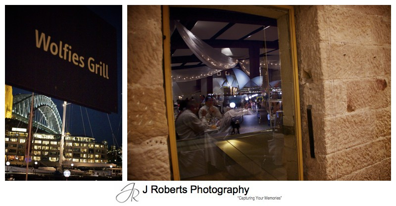 Night views at wolfies grill the rocks - wedding photography sydney