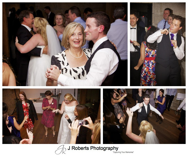Guests dancing at wedding reception - wedding photography sydney