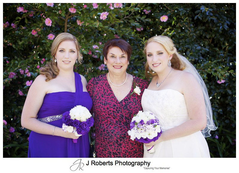 Bride with her mother and sister - wedding photography sydney