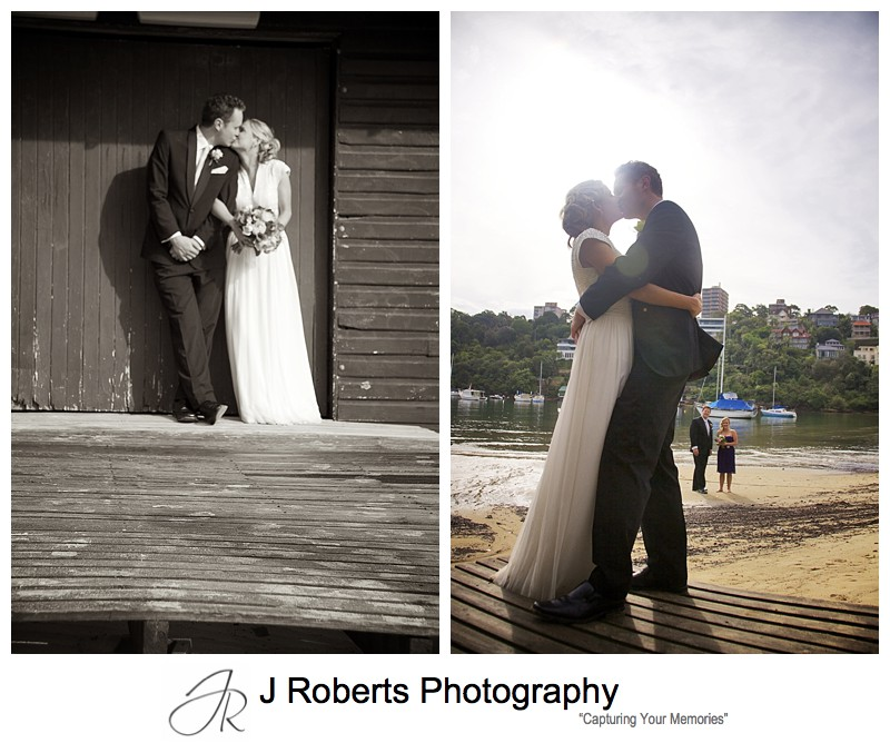 Couple kissing - wedding photography sydney