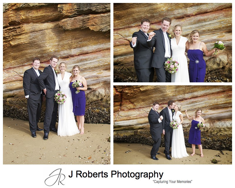 Bridal party celebrating - wedding photography sydney