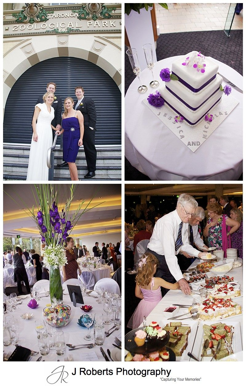 Wedding reception at Taronga Zoo Function Centre - wedding photography sydney