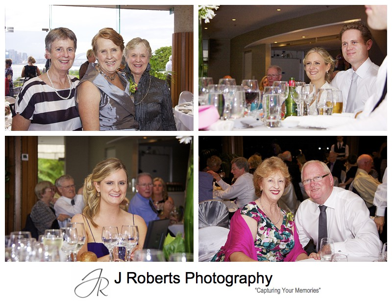 Guests enjoying speeches at wedding reception - wedding photography sydney