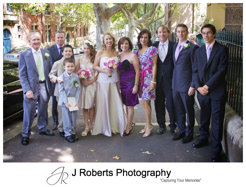 Bride with her extended family before the wedding - wedding photography sydney