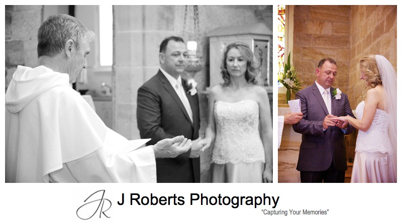 Blessing and exchanging rings - wedding photography sydney