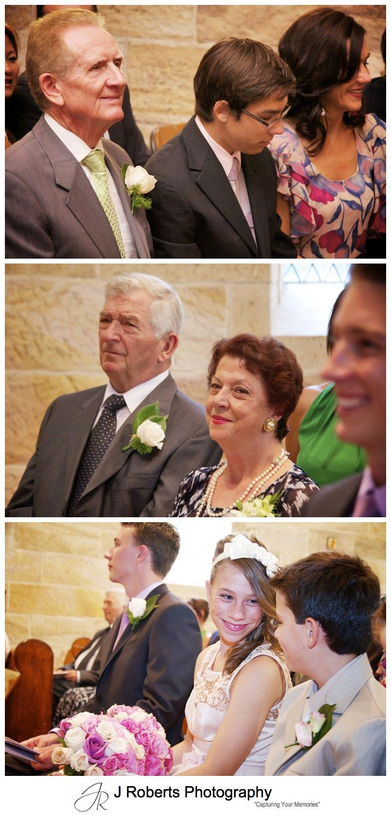 Family looking on as couple marry - wedding photography sydney