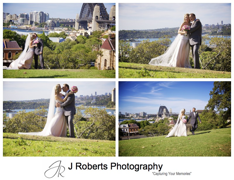 Bride and groom wedding photos at observatory hill sydney - wedding photography sydney
