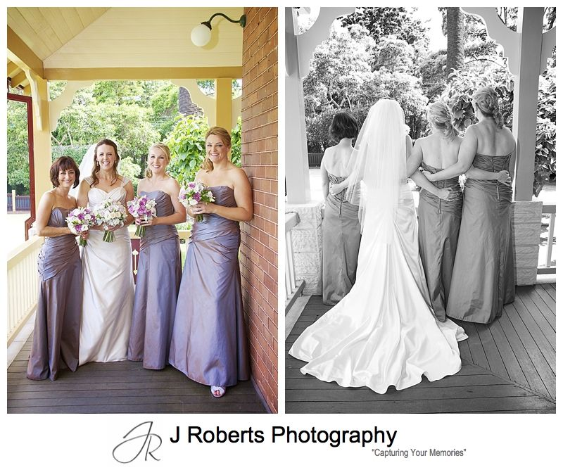 Bride with her bridesmaids getting ready - wedding photography sydney