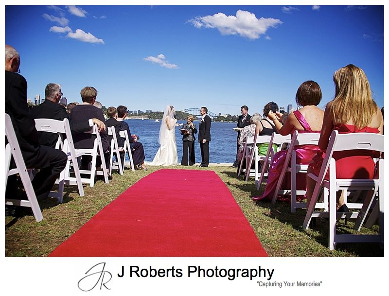Wedding set at Clarkes Point Reserve Woolwich - wedding photography sydney