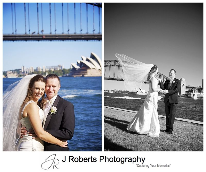 Bridal couple at blues point reserve - wedding photography sydney