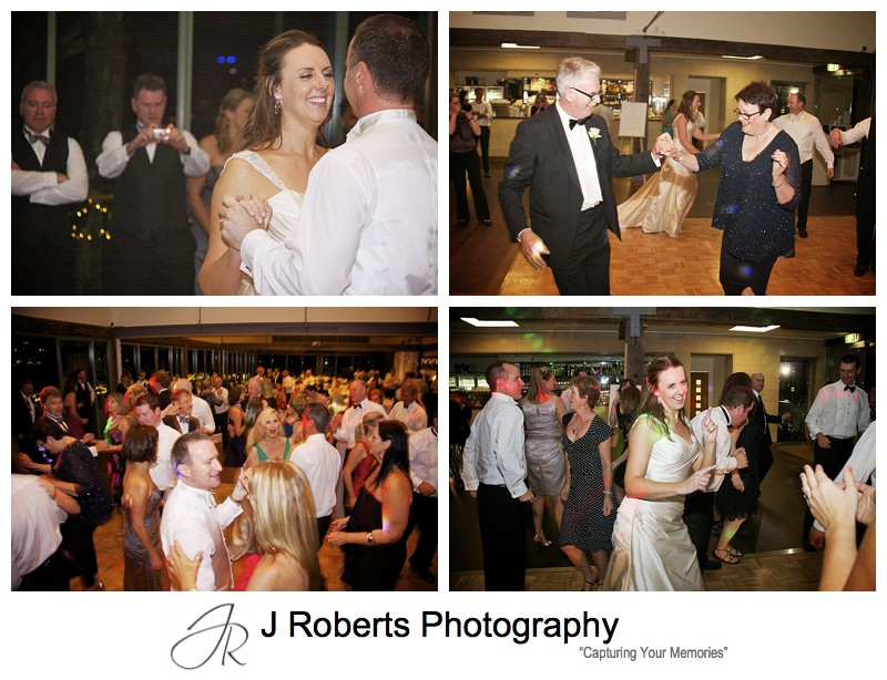 Dancefloor at wedding reception Deckhouse Woolwich - wedding photography sydney