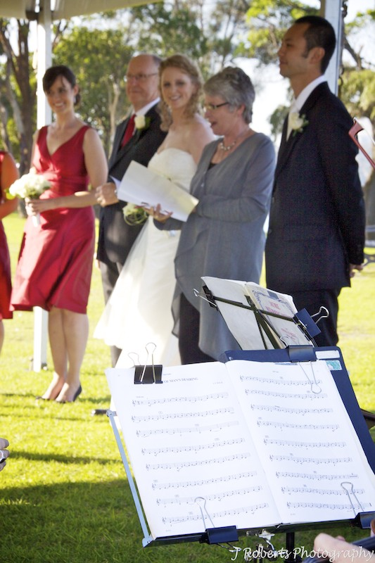 Wedding ceremony in marquee - wedding photography sydney