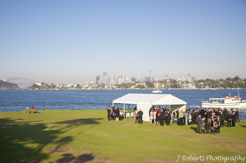 Marquee wedding Clarkes Point Reserver woolwich - wedding photography sydney