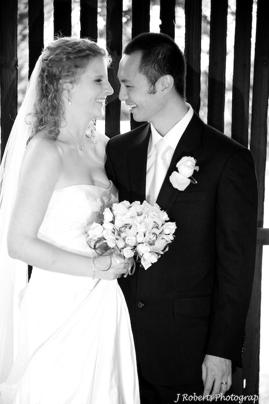 B&W of couple - wedding photography sydney